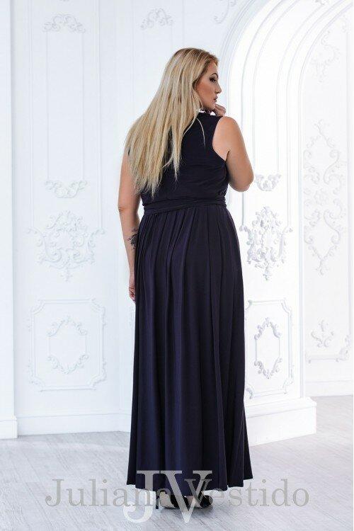 Вечернее платье Дора сливовый арт.2800 большое размер