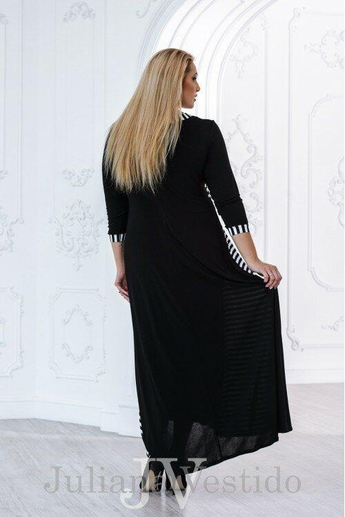 Платье в полоску Каролина арт.2801 большое размер