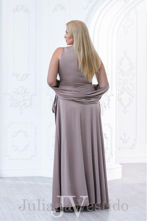 Вечернее платье в пол Кетрин золотой арт.2825 большое размер