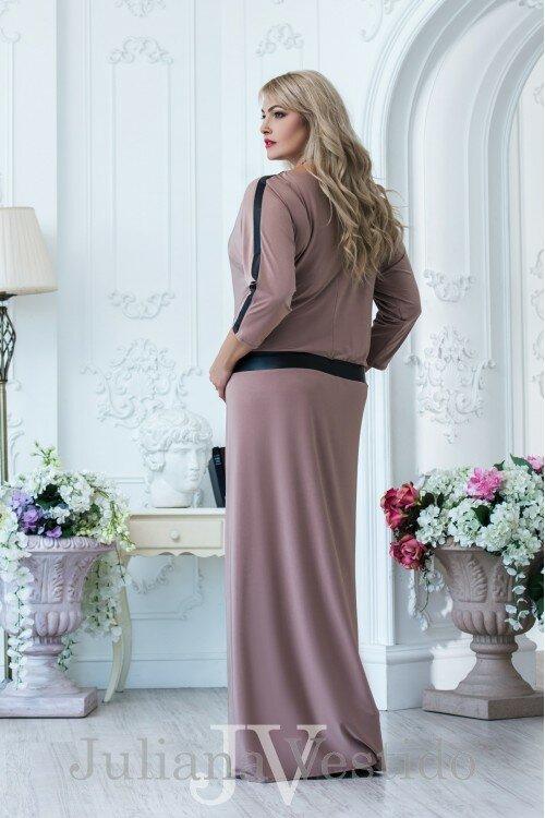 Платье Эмма бежевый арт.847638 большое размер