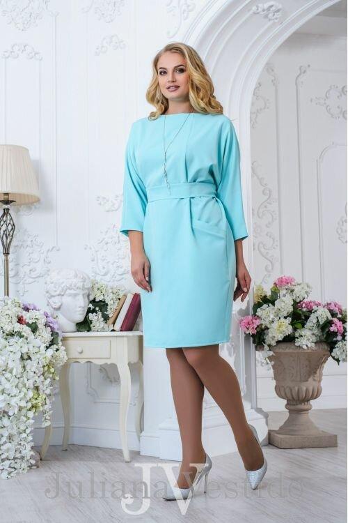 """Элегантное платье большого размера рукавами """"летучая мышь"""" горловиной - лодочка из весенней коллекции """"Эстель"""""""