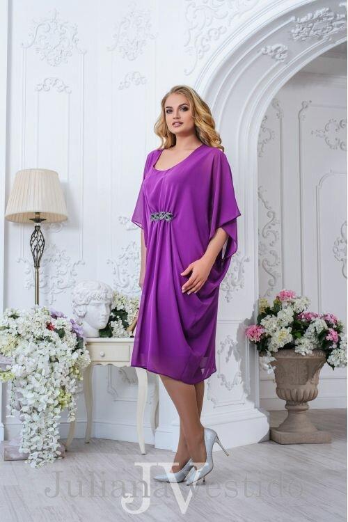Нарядное платье Эмилия фиолетовый арт.2707 большое размер