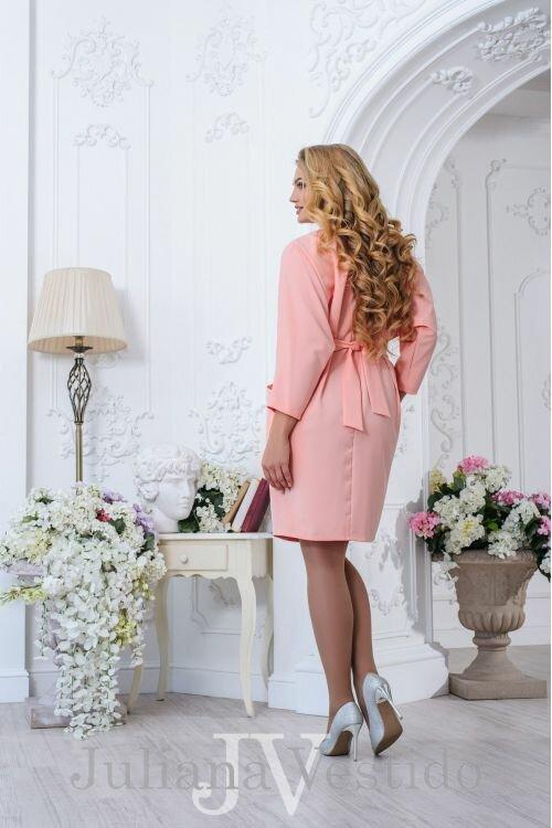 """Нарядное короткое платье большого размера с горловиной - лодочка широким поясом из весенней коллекции """"""""Эстель"""""""