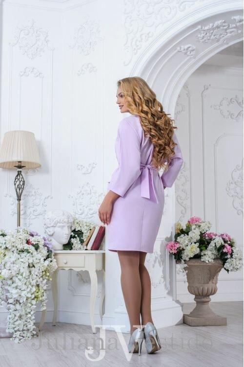Платье Мари сирень арт.2736 большое размер